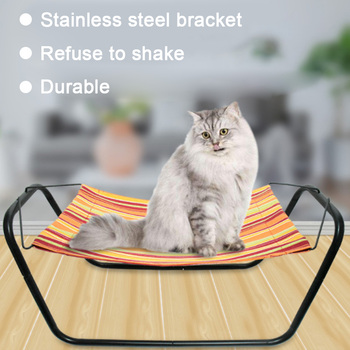 Fe26 Kittens Kitties Small Pets Summer Mesh Cat Hammock Bed Breathable Detachable Cover