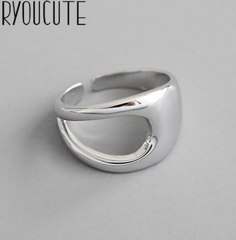Luxury Brand Fancy  Silver Color  Hollow Chains Rings for Women Antique Rings Wedding Jewelry Valentines Gifts 1
