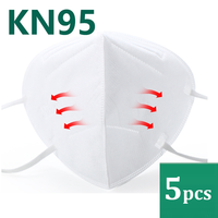 5pcs KN95 Mask Anti Dust Protection Masks Fog Smoke PM2.5 KN 95 Face Mouth Mask Bacteria Proof Safety Work Particulate Filter
