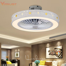 Ceiling-Fan Fan-Lamp Light Bedroom Dimmable Minimalist Home with Indoor Fashion 110V/220V