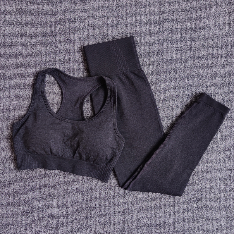 Women Seamless Yoga Set Sportswear Fitness Clothing Gym Running Leggings Workout Pants Padded Sports Bras 2 Pieces Sports Suits