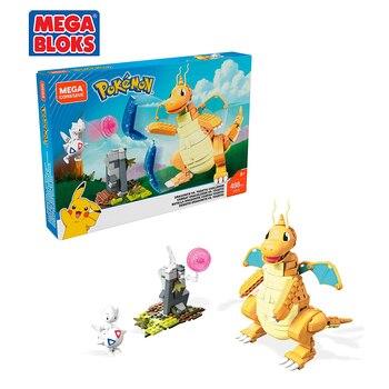 MEGA BLOKS Pokemon Series Building Blocks Toy Fast Dragon Battle Scene Pocket Monsters Kids Toys Christmas Gift FVK75 1