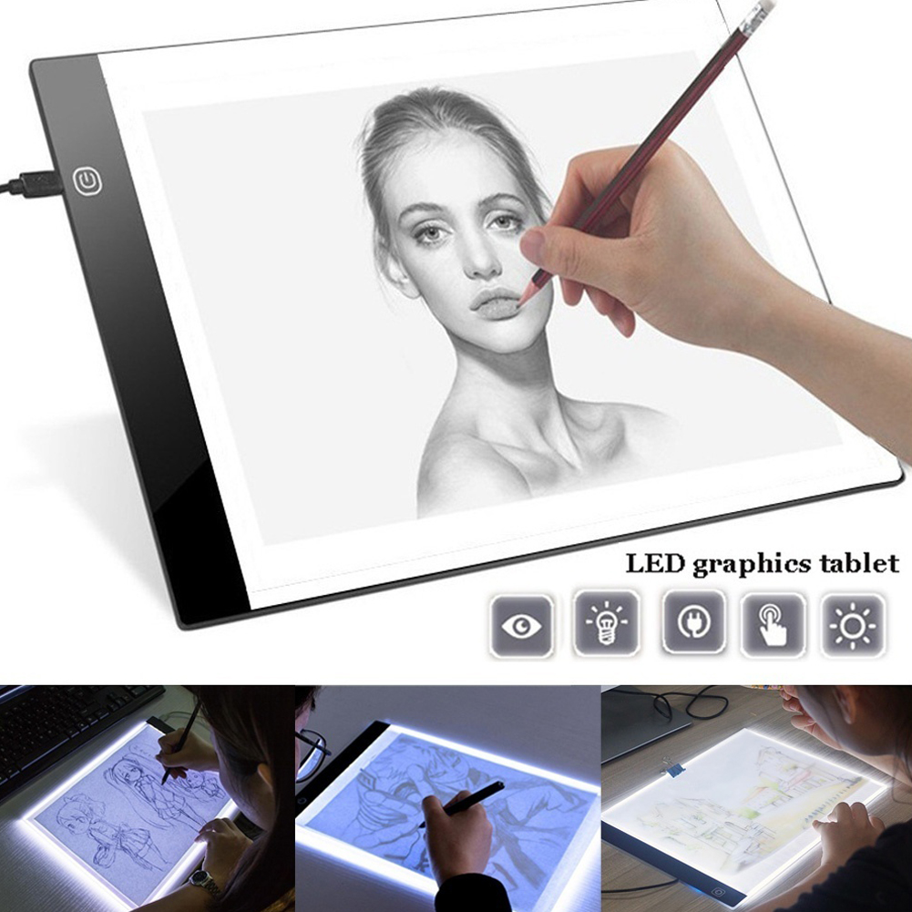 Drawing tablet LED electronic writing tablet graphic table painting Digital tablets drawing board portable Handwriting gifts
