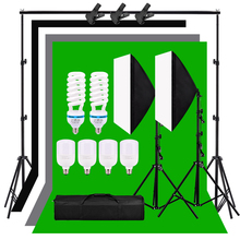 Lighting-Kit Backdrops Background-Frame Softbox Support Photography 135W 50x70cm 2pcs
