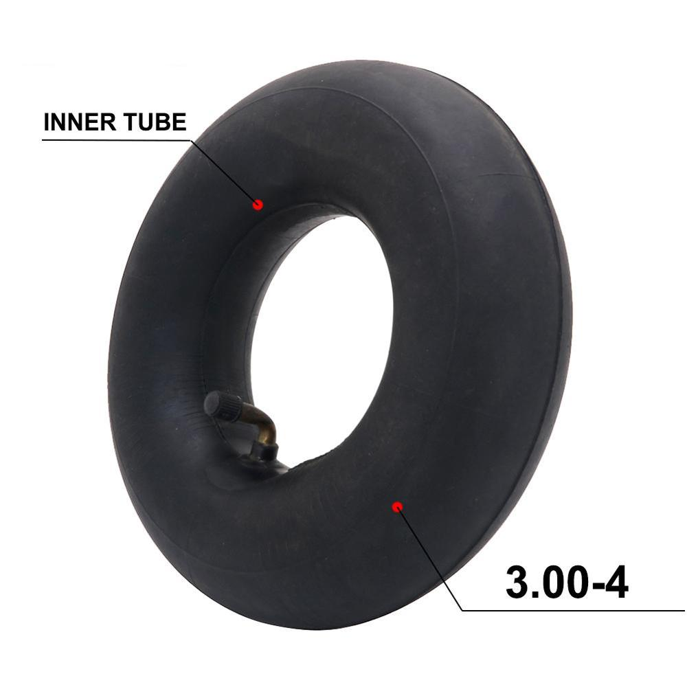 Купить с кэшбэком Motorcycle Tire Inner Tube 3.00-4 High Quality Tire Metal Valve Tube For Gas & Electric Scooter Bike  Fits For Razor Scootere300