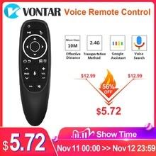 VONTAR Control remoto por voz G10 G10S Pro, 2,4G, giroscopio de aire inalámbrico, IR, aprendizaje para tv box Android, HK1, H96, Max, X96 mini