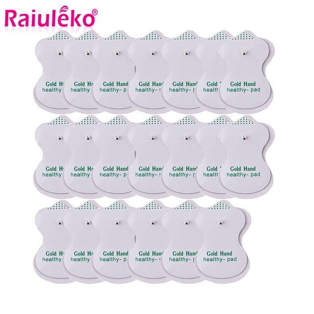 Almohadillas de electrodos 10/20 piezas, almohadilla de gel conductivo tens, masajeador de terapia de acupuntura corporal, pegatina de estimulador eléctrico de pulso terapéutico