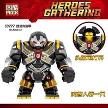Legoing MARVEL халкбастер экшн Фигурки Мстителей 3 блока Марвел одиночный большой размер Железный человек фигурка кирпичная игрушка Legoings наборы