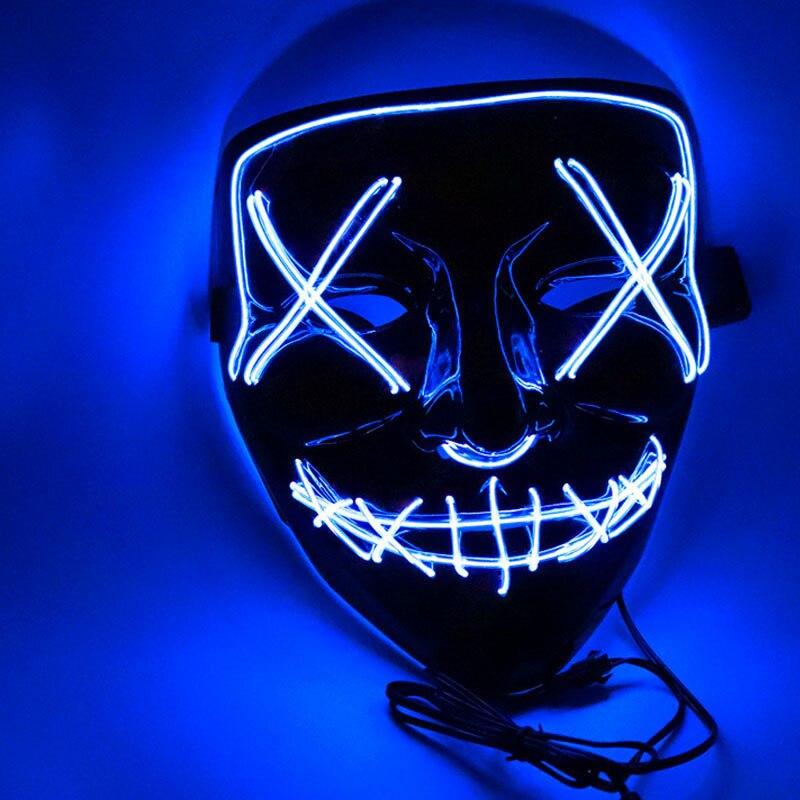 1 шт. светящаяся маска светодиодный светящийся Вечерние Маски для разминки год для выбора Большие Смешные Маски фестиваль Косплей Костюмные принадлежности Светящиеся в темноте - Цвет: H10