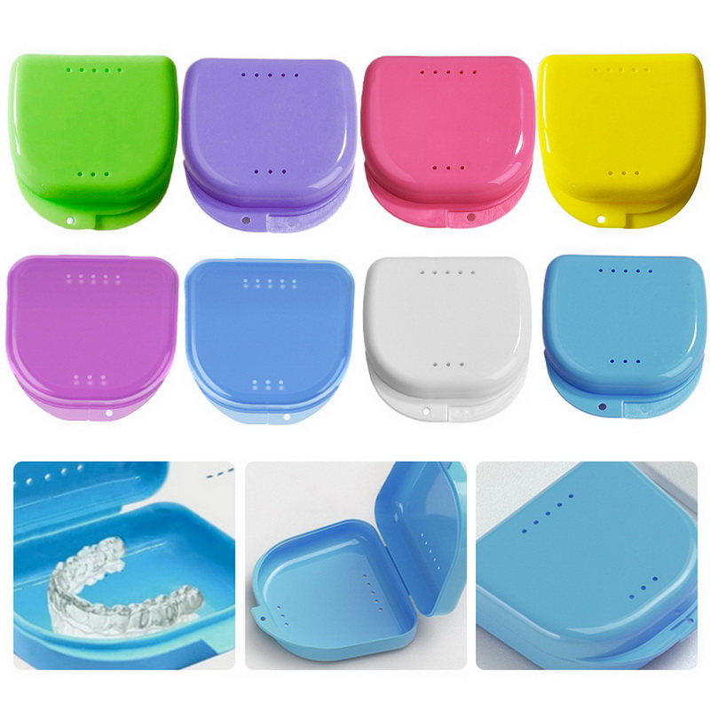 1pcs Denture Bath Box Cleaning Teeth Case Dental False Teeth Storage Box Container Denture Boxs Drop Shipping(China)