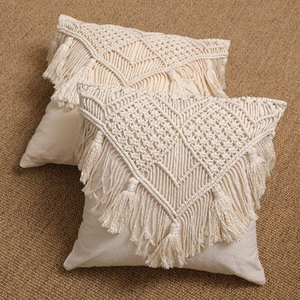 decoração para casa lavável acessórios mistura de algodão com borla
