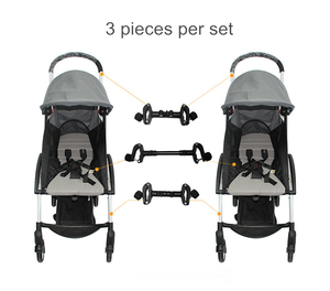Image 5 - Baby Accessories 2 Stroller Connector Stroller Accessories Connector for 2 Prams Toddler Accessory