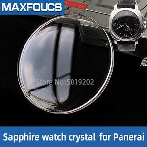 Сапфировые часы с кристаллом для PAM RADIOMIR LUMINOR, двойные купольные передние стеклянные части корпуса часов для Panerai