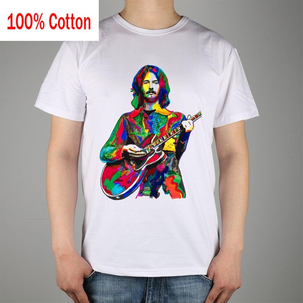 Eric Clapton Slowhand Guitarist Yardbirds Cream Blues T-shirt Top Lycra Cotton Men T shirt New