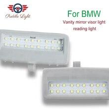 2PCS Car Accessories LED Vanity Mirror Lamp For BMW F10 F11 F07 F01 F02 F03 F04 Led Reading Lights Bulbs Car-styling Auto Parts 2x white led interior vanity mirror lamp light for f01 f02 f03 f04 f07 f10 canbus no error free
