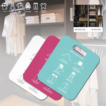 Fast Folding Board Convenient Stacking Board Adult Clothes Shirt Folding Board Lazy Stacking Clothes Tool Household Essentials 10pcs set creative plastic clothes folding pant folder clothes closet fast speed fold organize storage lazy stacking cloth board