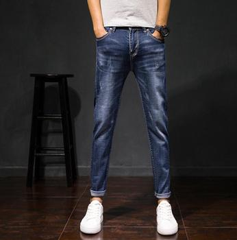 Hot Sales 2019 Spring Fall New Style Fashion Causal Men Jeans Good Quality AnkleLength Pants 1