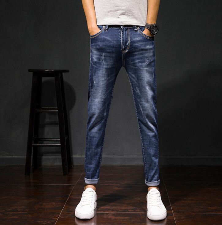Heiße Verkäufe 2019 Frühling Herbst Neue Stil Mode Kausalen Männer Jeans Gute Qualität AnkleLength Hosen