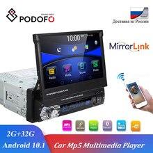 Podofo Android Auto Radio GPS Multimedia Player Mirrorlink 7