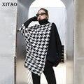 XITAO Mode Hahnentritt Pullover für Frauen Lose Plus Größe Fledermaus Ärmel Rollkragen Pullover Frauen Unregelmäßigen Wilden Autumnn WJ1226