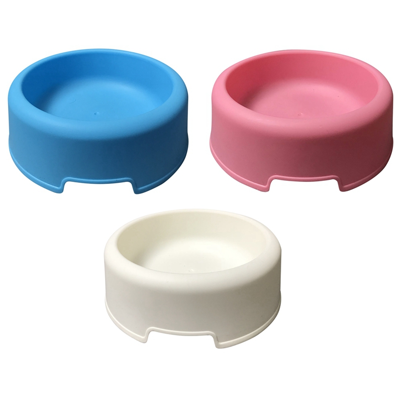 Portable Pet Dog Cat Round Bowl Basic Pet Dogs Cats Food Water Bowl Pet Feeding Bowls Tool Easy To Clean Pet Feed Supplies