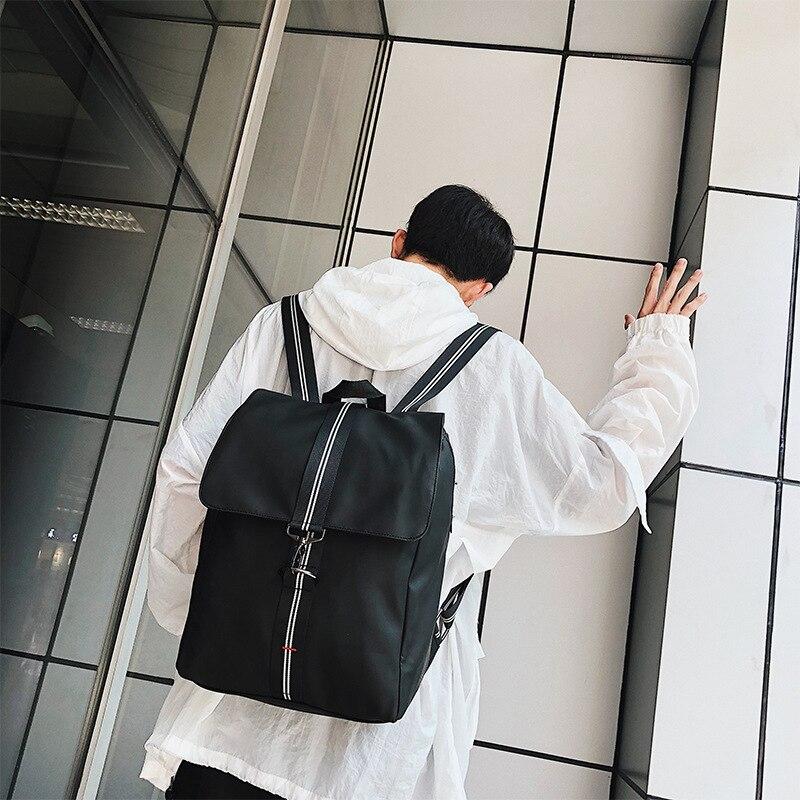 Mode nouvelle édition coréenne sac à dos à bandoulière pour hommes lycéens loisirs sac à dos en Nylon vente rapide en gros