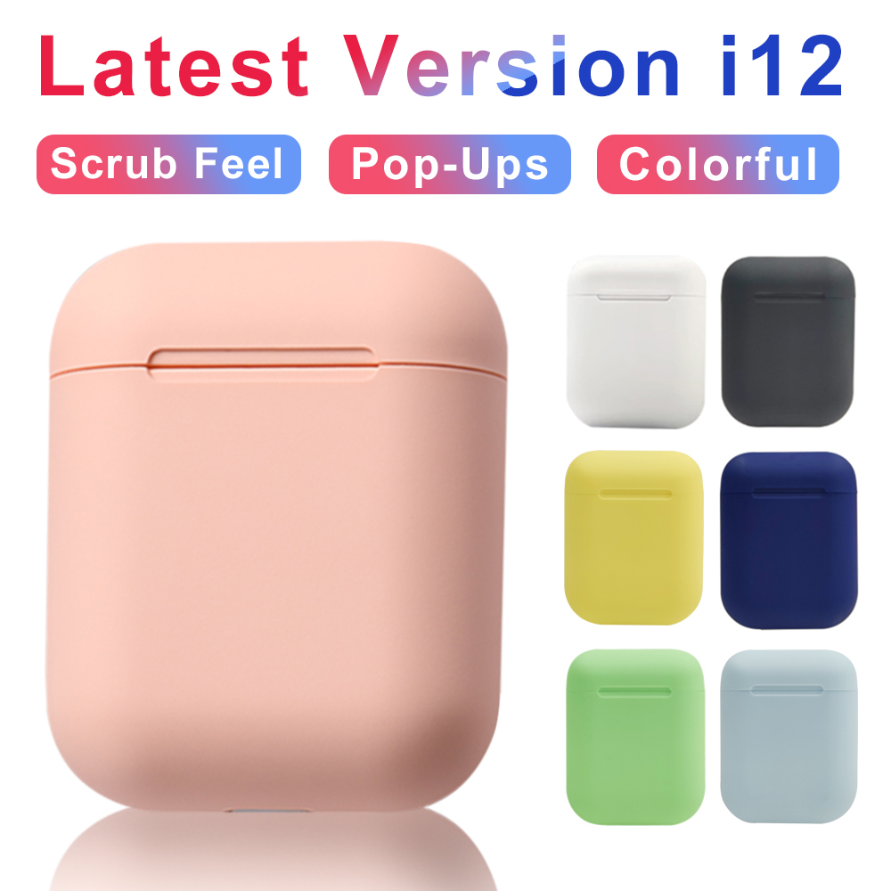 Wireless Headphones Macaron i12 TWS Inpods 12 Bluetooth5.0 Headset Touch Pop-up Stereo <font><b>Earphone</b></font> Headphone Of Phone HD <font><b>Microphone</b></font> image