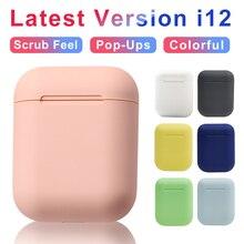 Wireless Headphones Macaron i12 TWS Inpods 12 Bluetooth5.0 Headset Touch Pop-up Stereo Earphone Headphone Of Phone HD Microphone