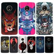 Japoński samuraj oni maska etui na telefony dla Motorola Moto G8 G7 G6 G5 G4 E6 E5 E4 moc Plus grać jedno działanie makro wizja pokrywa Coq