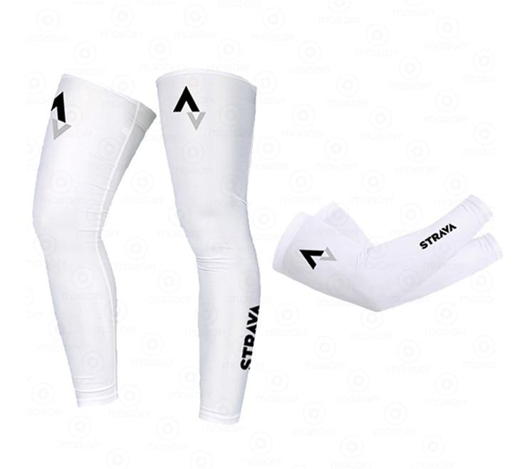 STRAVA Grenadier 2021 New Men Sports Arm Compression Sleeve Cycling Arm Leg Warmer Summer Running UV Protection Sunscreen Bands