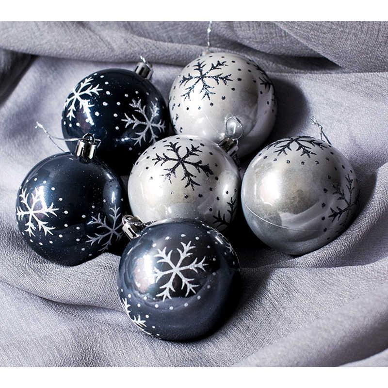 6 uds bola de plástico Multicolor adornos colgantes de Navidad adornos navideños para el hogar árbol de Navidad Año Nuevo decoración Navidad 2019