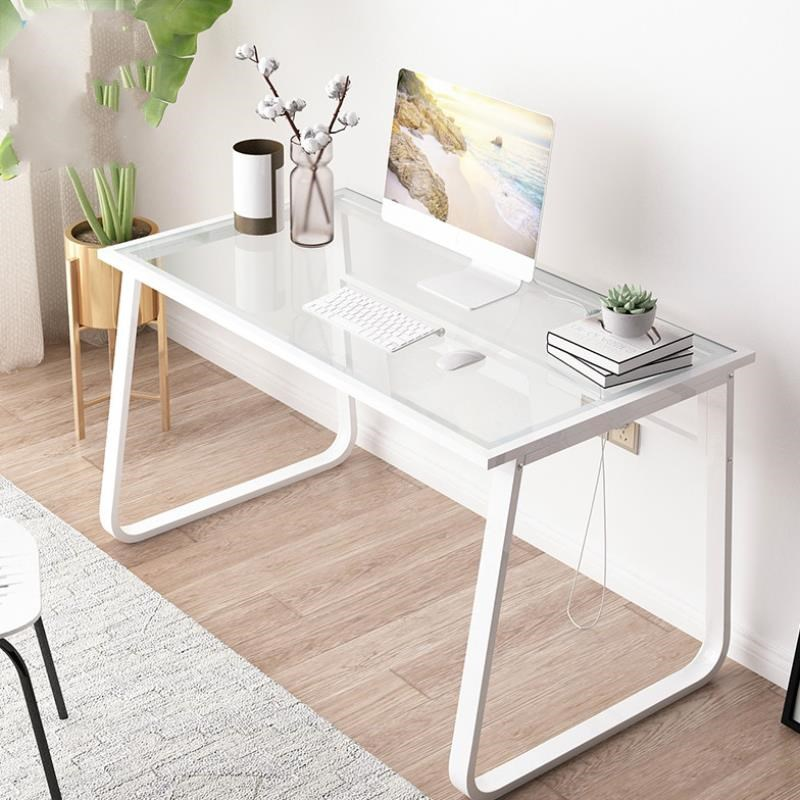 Modern Computer Desktop Tempered Glass Desk