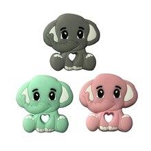 Silicone Necklace Tiny-Rod Elephant Bpa-Free Baby Teething Animal Food-Grade Nursing