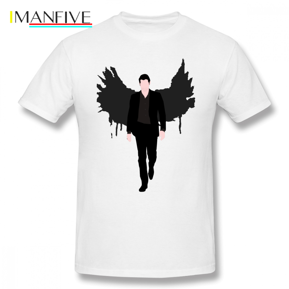Lucifer T Shirt Morningstar T-Shirt Graphic Basic Tee Cute 100 Cotton Oversize Short-Sleeve Mens Tshirt