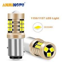Anmingpu 2x сигнальная лампа 1157 led canbus bay15d p21/5w 2835smd