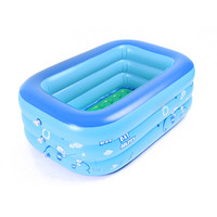 Baby Children Bathing Tub Baby Home Use Paddling Pool Inflatable Square Swimming Pool Kids Family Thickened Playing Water Pool