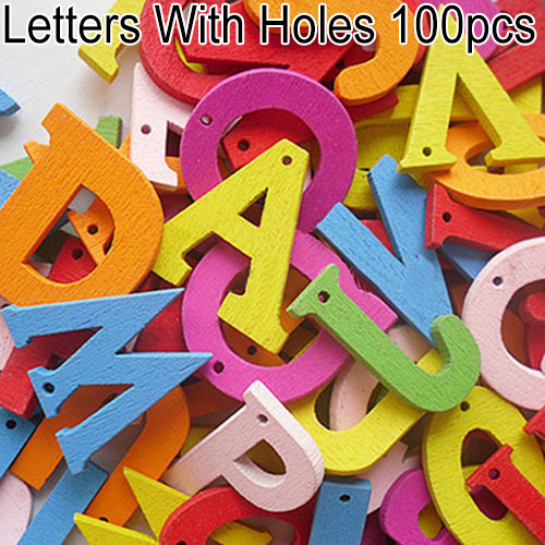 100pcs 0-9 A-Z Free Standing Colorful Wooden Numbers Letters Personalised Word Name Design Creative Craft Embellishments Tools