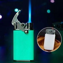 2021 New Customizable Windproof Luminous Rocker Lighters Mini Cigarette Cigar Torch Lighter Butane Gas Lighter