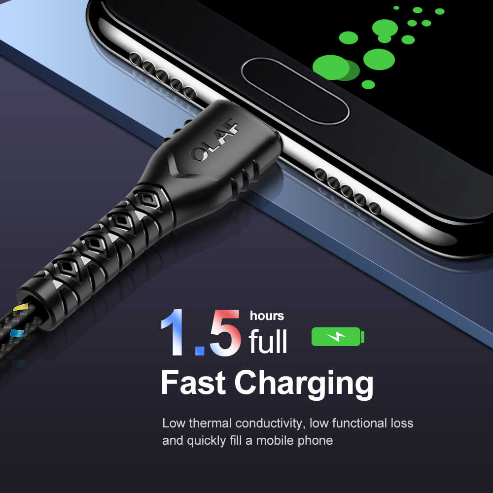 الهاتف المحمول كابل يو اس بي 3m 2m 1m شحن سريع USB نوع C كابل لسامسونج شاحن البيانات تهمة المصغّر USB كابل علامة هواوي Xiaomi