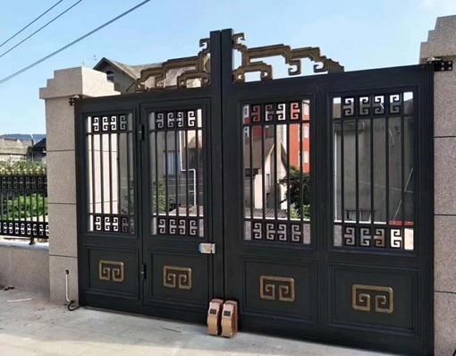 Metal Main Gate Aluminum Gate Design New Automatic Gate Design