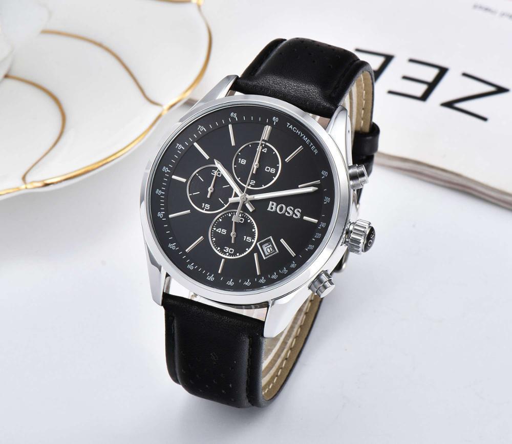 2019 Best Sell Watch Men Fashion Boss Business About Men Stainless Steel Band Machinery Sport Quartz Watch relogio masculino