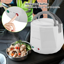 SEAAN 1.3L Portable Electric Mini Rice Cooker Lunch Box Microwave Smart Rice Cooker Small  12V/24V for Car/Truck Kitchen Tools cukyi 1 9l portable electric cooker rice cooker home office enough for 2 4 persons water partition cooking three layer