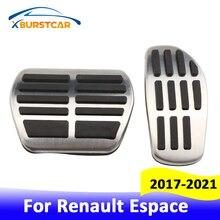 Xburstcar auto pedais do carro para renault espace 2017 2018 2019 2020 2021 em mt de aço inoxidável gás combustível freio pedal almofadas cobrir