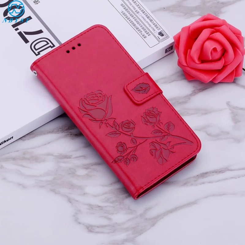 Flower Rose Flip Leather <font><b>Case</b></font> For <font><b>iPhone</b></font> 11Pro X XR XS MAX Coque for <font><b>iPhone</b></font> 6 6S 7 8 Plus On <font><b>Iphone</b></font> 5 <font><b>5C</b></font> 5S SE <font><b>Wallet</b></font> Funda Capa image