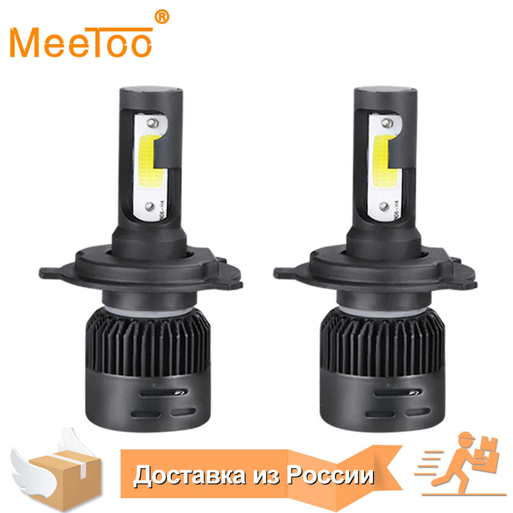 MeeToo H4 LED Bulb Car Headlight H7 LED H1 H8 H11 HB3 HB4 9005 9006 IP65 72W 8000LM 6500K Ice Lamp 12V 24V Auto Headlamp Light