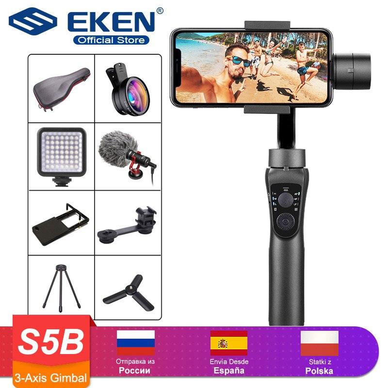 3 eixos handheld cardan estabilizador faixa ativa com foco pull & zoom para iphone 11 8 huawei samsung telefone inteligente câmera de ação ptz