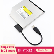 Universal Serial Bus Interface USB 2.0 To Mini Sata II 7 6 13Pin Adapter Converter Cable For Laptop DVD/CD ROM Slimline Drive