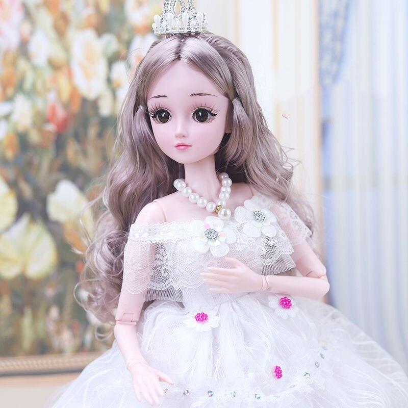 60 см/45 см красивая кукла принцессы с одеждой 1/3 шарнирная кукла 20 шарниров красивые золотые волосы принцессы новый подарок для девочки