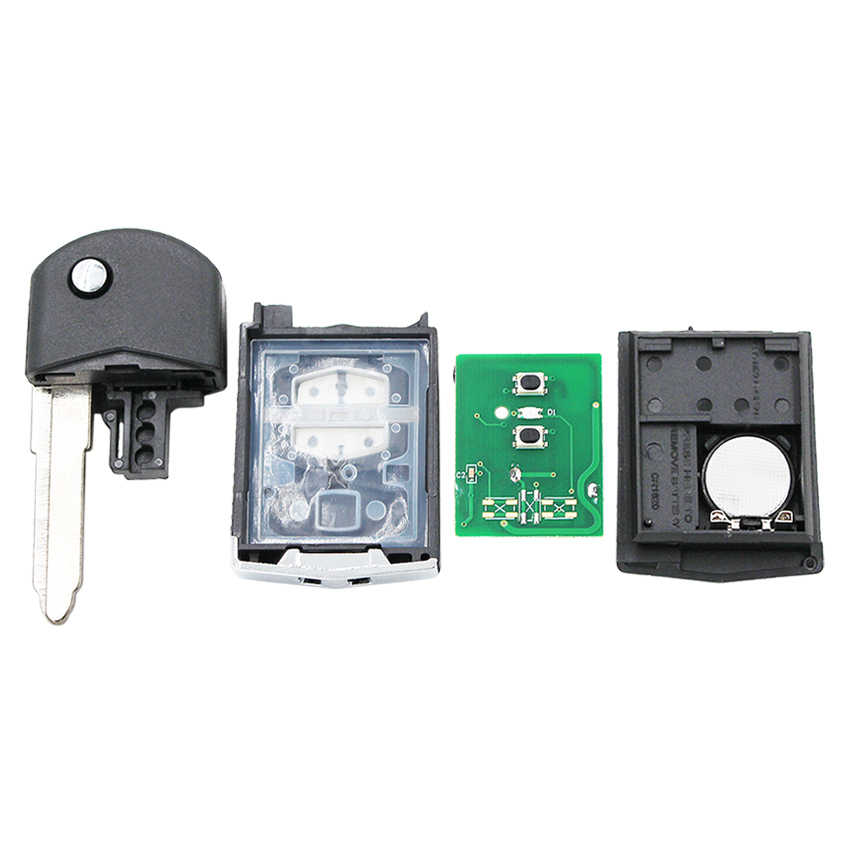 2 boutons 433MHz avec 4D63 puce télécommande voiture clé fob pour Mazda 3 6 M3 M6 Visteon 41521
