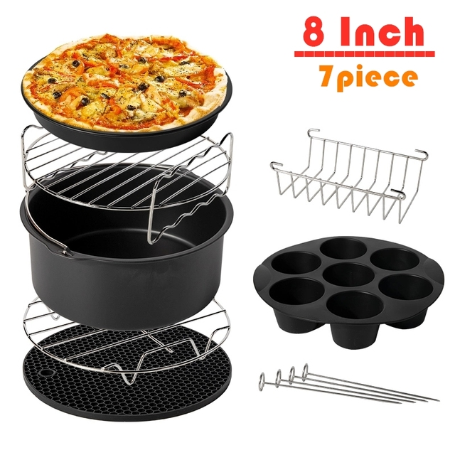 7pcs/set High Quality 8 Inch Air Fryer Accessories for Gowise Phillips Cozyna and Secura Fit all Airfryer 5.3QT to 5.8QT 1